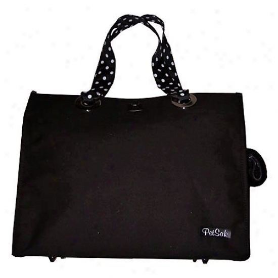 Puchibag Petsak Tote Black Canvsa Pet Carrier