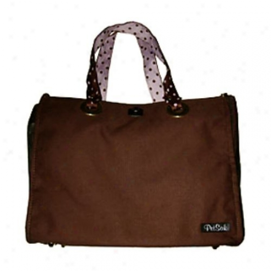 Puchibag Petsak Tote Brown Canvas Pet Carrier