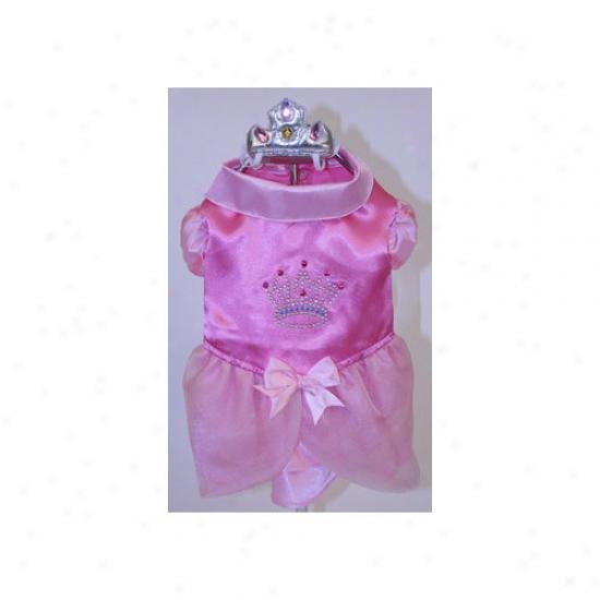 Puppe Loev Satin Princess With Crown Dog Coxtume