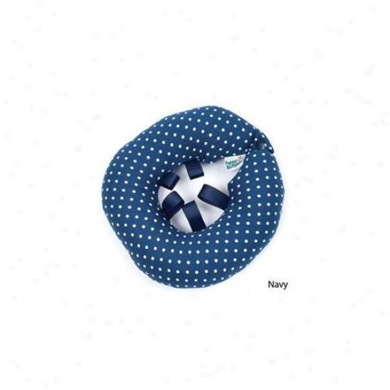 Puppy Bumpers Nd710 Navy Dot Collar Up To 10 Inch