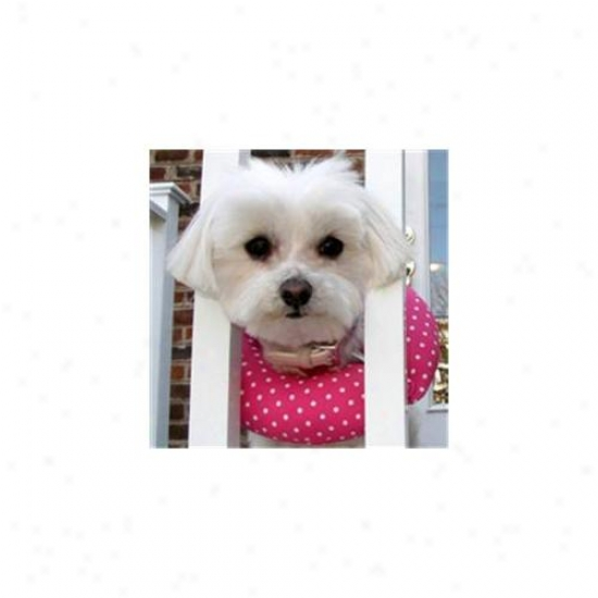 Puppy Bumpers Pd1013 Pink Variegate Collar 10 Inch - 13 Inch