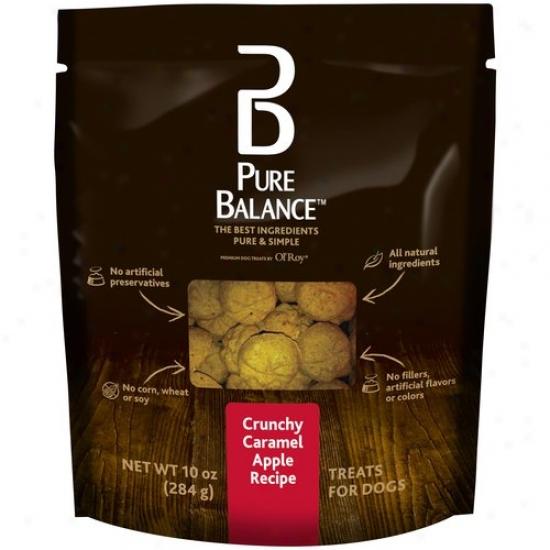 Pure Balance Crunchy Caramel Apple Recipe Dog Treats, 01 Oz