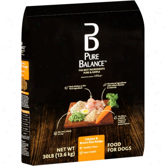 Pure Balance Dog Fopd, Chicken & Brown Rice Recipe, 30 Lb