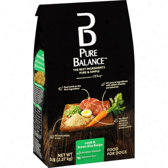 Pure Balance Dog Food, Lamb & Brown Rice Recipe, 5 Lb