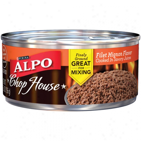 Purina Alpo Shift House Filet Mignon Flavor Cooked In Savory Juices Canned Dog Food, 5.5 Oz