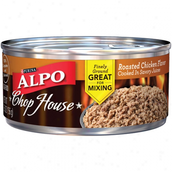 Purina Alpo Chop House Roasted Chicken Flavor Cooked In Sa\/ory Juice Canned Dog Food, 5.5 Oz