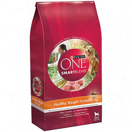 Purina One Dog Dry Smartblend Healthy Weight Adult Formula Dog Food, 8 Lbs