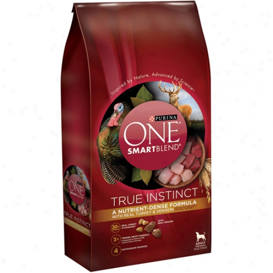 Purina One Smarthlend True Instinct With Real Turkey And Venison Ptemium Person of mature age Dog Food, 3.8 Lbs