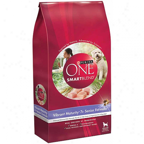 Purina One Smartblend Vibrant Maturity, 7+ Senior Formula Dog Food, 16.5 Lbs