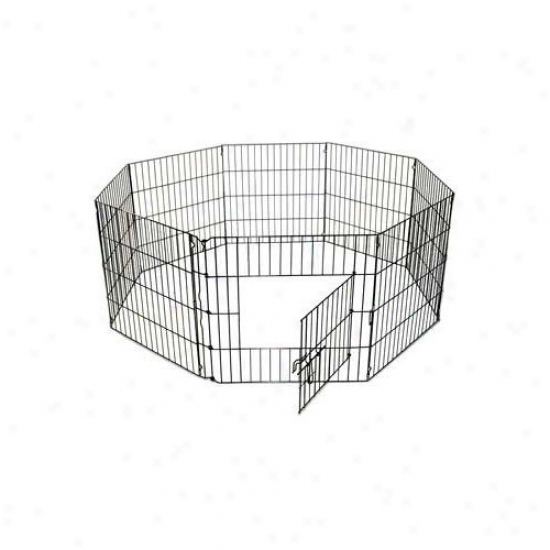 Qpets 8 Panels Dog Exercise Pen 24''x30''