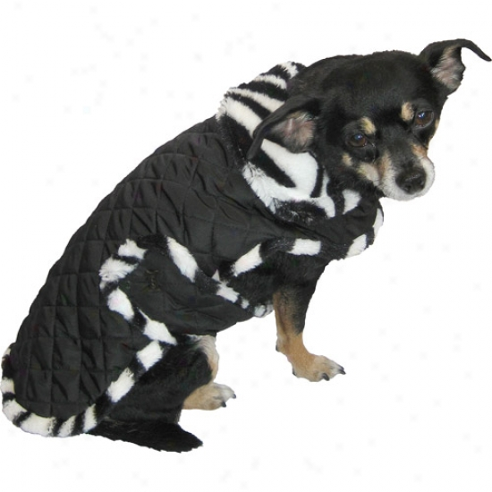 Quilted Zebra Fur Dog Coat (multiple Sizes Available)
