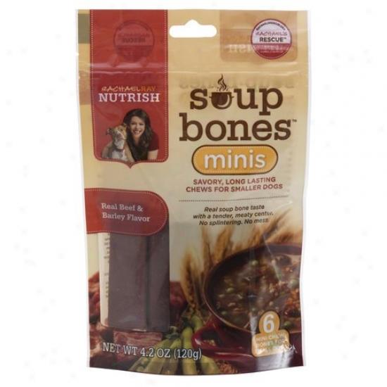 Rachael Ray Nutrish Mini Soup Dog Bones, 6-count