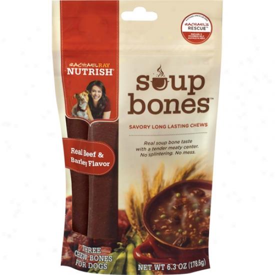 Rachael Ray Nutrish Real Beef & Barley Chew Bones, 6.3 Oz