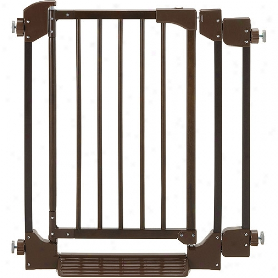 Richell Auto-deluxe Pet Gate In Coffee Beaan