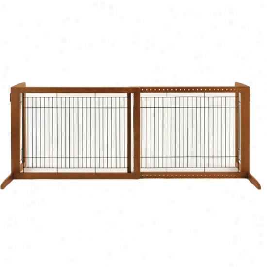 Richell Freestanding Hl Pet Gate, Brown