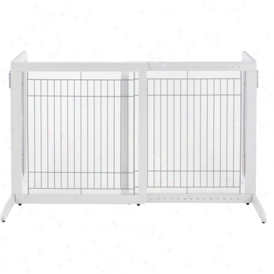Richrll Freestanding Hs Pet Gate, Origami White