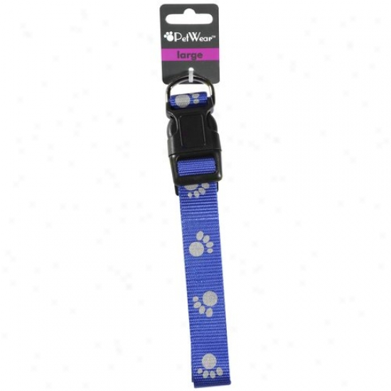 Rose America Corp. Petwear Large Reflective Collar, Blue, 1ct