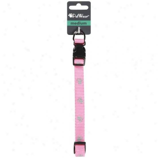 Rose America Corp. Petwear Intervening substance Reflective Collar, Pink, 1ct