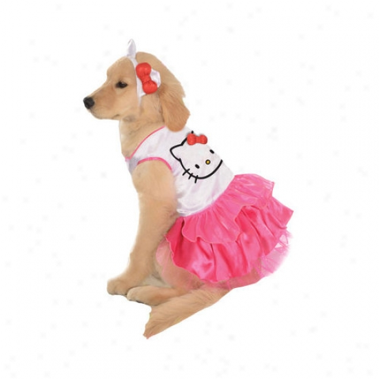 Rubies Hello Kitty Dress Dog Clstume