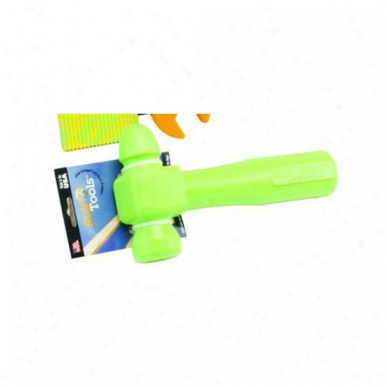 Ruff Dawg Ruff Tools Dog Hammer Dog Toy In Lime