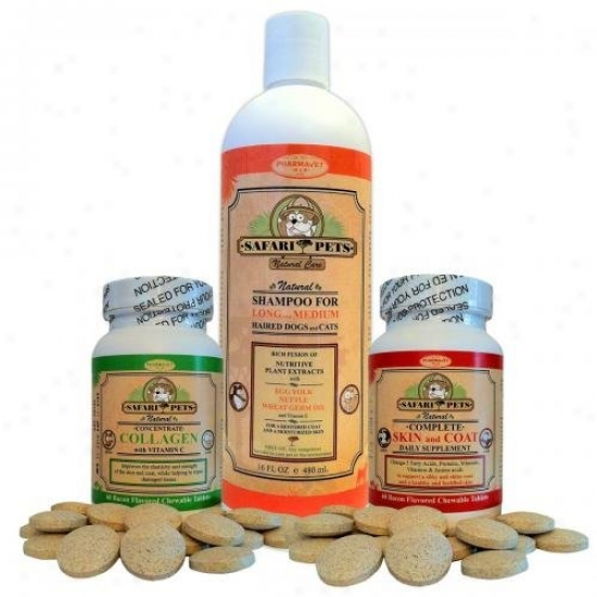 Safari Pets Natural Care Skin And Coat Treatment For Dogs And Cats