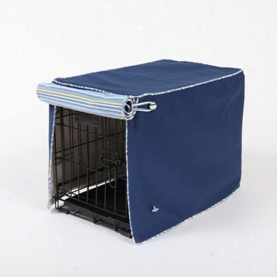 Sailors Blue With Sierra Blue On Blue Crate Cover