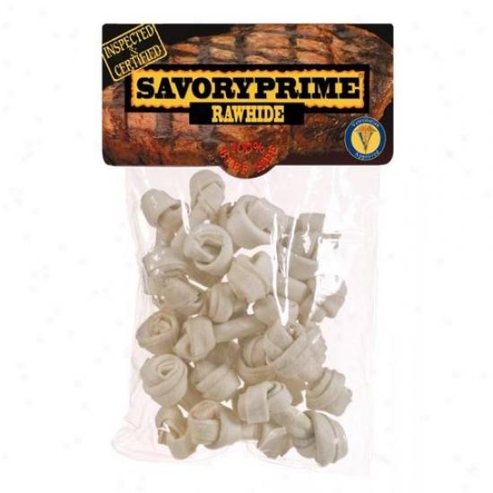 Savory Prime 20102 20 Pack Mini Rawhide Bones