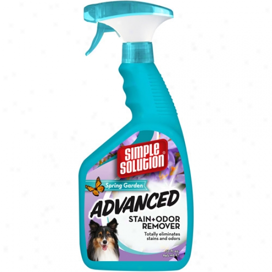 Simple Solution Advanced Spring Garden Stain & Odor Remover, 32 Oz