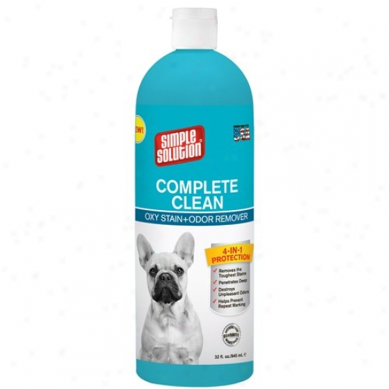 Simple Solution Complete Clean Oxy Stain And Scent Remover, 32 Oz