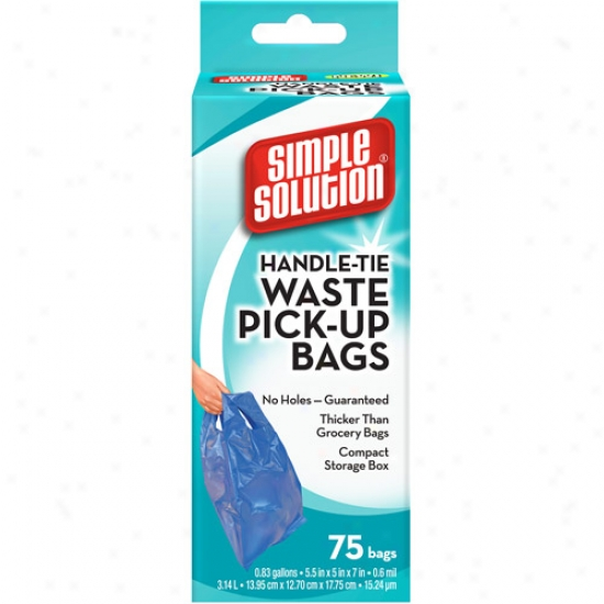 Simple Solution Hanele Tie Waste Pick Up Bags, 75ct