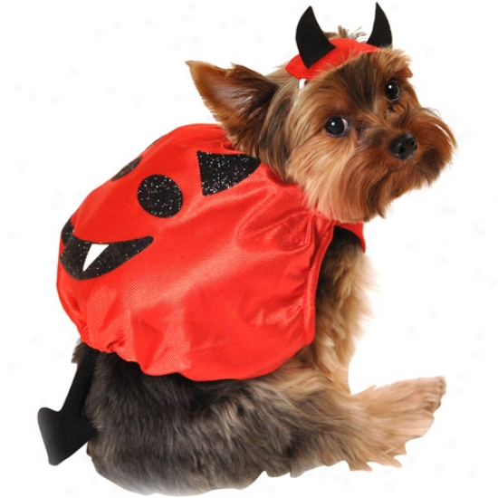 Simply Dog Dsvil Halloween Costume 2-piece Set, Red, (multiple Sizes Available)