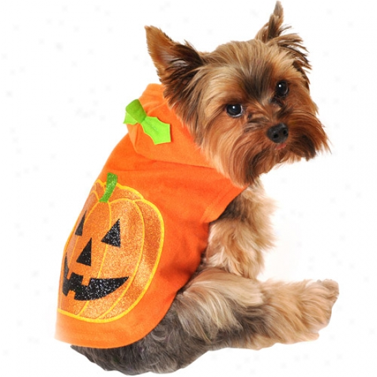 Simply Dog Glitter Dog Hoodie, Orange, (multiple Sizes Available)