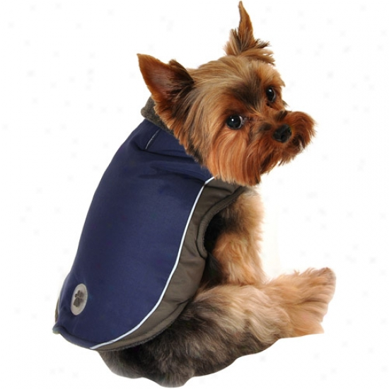 Simply Dog Grey Reflective Tech Dog Jacket, Navy, (multiple Sizes Available)