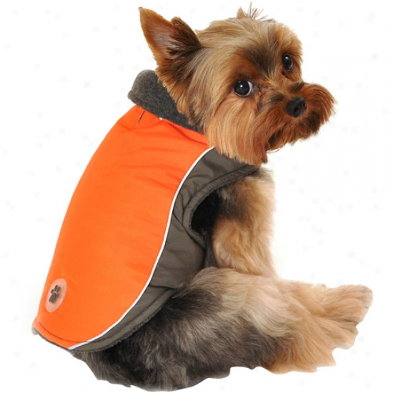 Simply Dog Grey Reflective Tech Dog Jacket, Orange, (multiple Slzes Available)