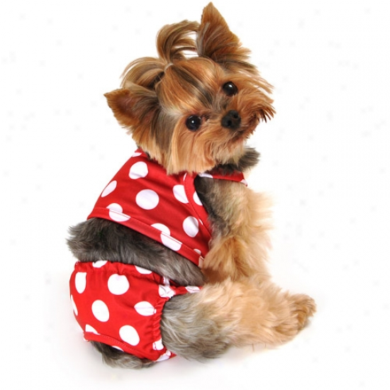 Weakly Dog Red Dot Swimsuit