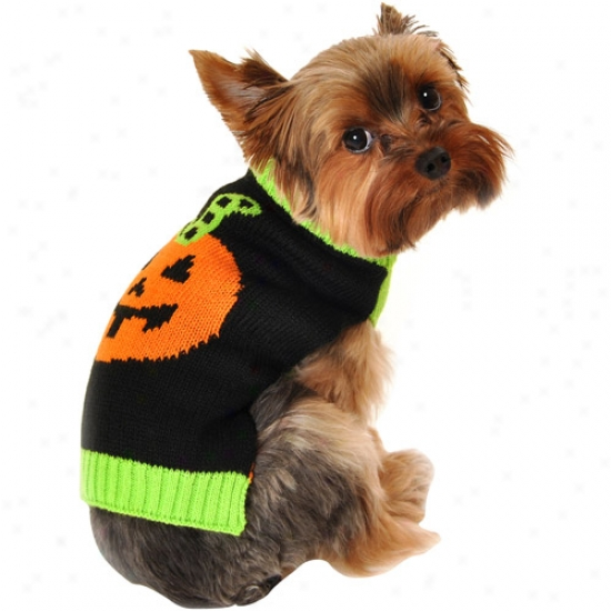 Simply Dog Striped Stem Dog Sweater, Black, (multiple Sizes Avaklable)