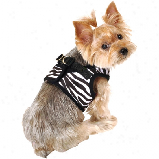 Simply Dog Ze6ra Body Dog Harness, Black, (multiple Sizes Available)