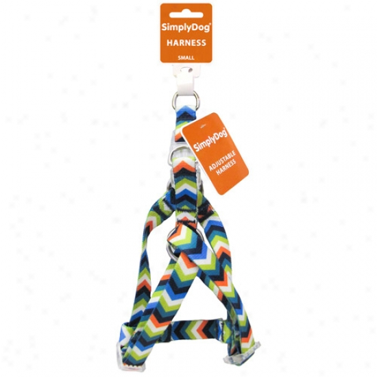 Simplydog Boys Chevron Heat Transfer Adjustable Dog Consistency Harness
