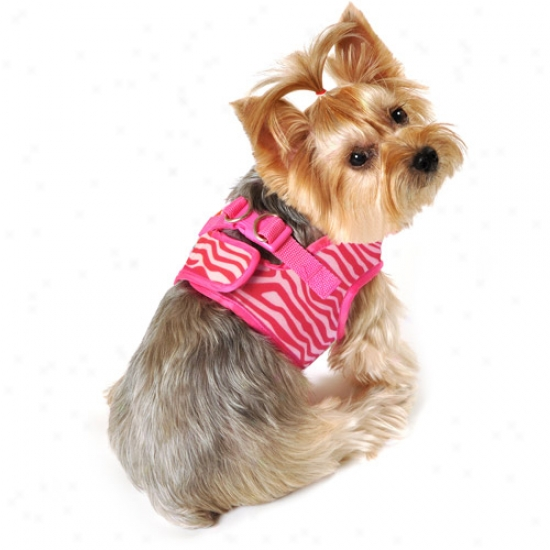 Simplydog Cheetah Dog Body Harness, Pink, (multiple Sizes Available)