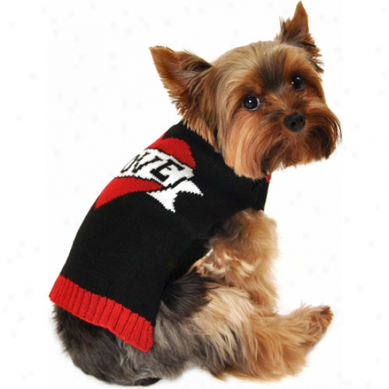 Simplydog Have affection for Tattoo Balck Dog Swetaer, (multiple Sizes Available)