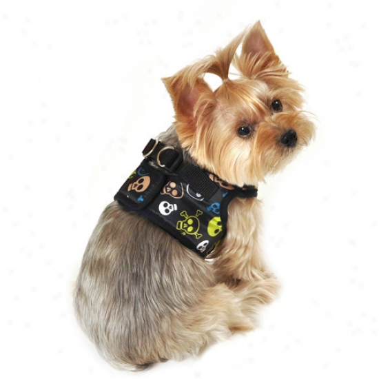 Simplydog Multi Skull Dog Body Harness, Black, (multiple Sizes Available)