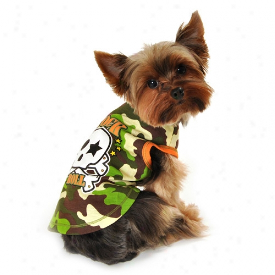 Simplydog Rock & Fluctuate Skull Tank For Dogs, (multiple Sizes Available)