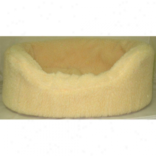 Sledping Gnome Sheepskin Lounger Pet Bed