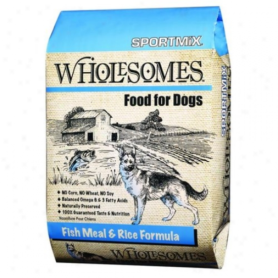 Sportmix 2100092 Sportmix Wholesomes Dog Food - Fish Meal And Rice