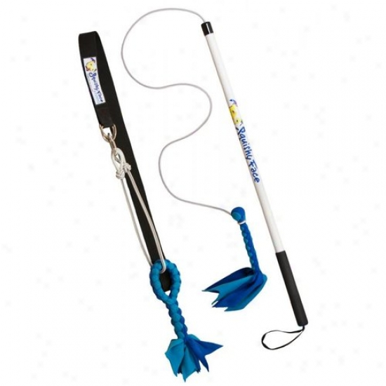 Squishy Face Studio Bwfpstb Fpirt Pole With Fleece Toss Lure And Super Tug Dog Toy Bundle