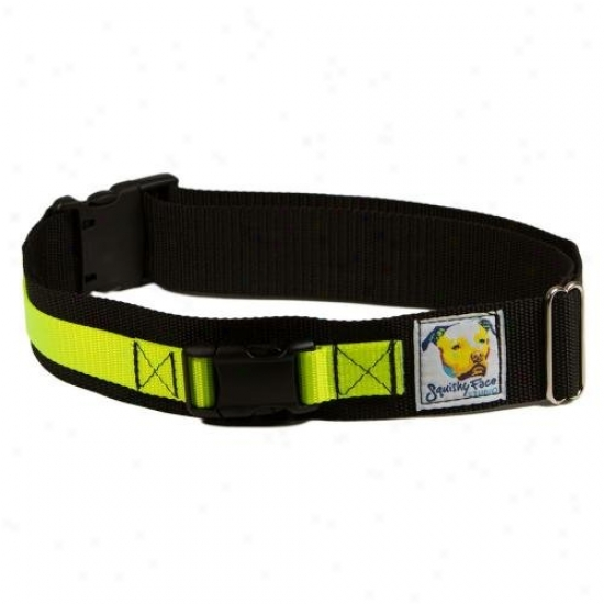 Squishy Face Studio Lb-ml-y L3ash Belt Hands Free Dog Walking Harness Medium-large Neon Yellow