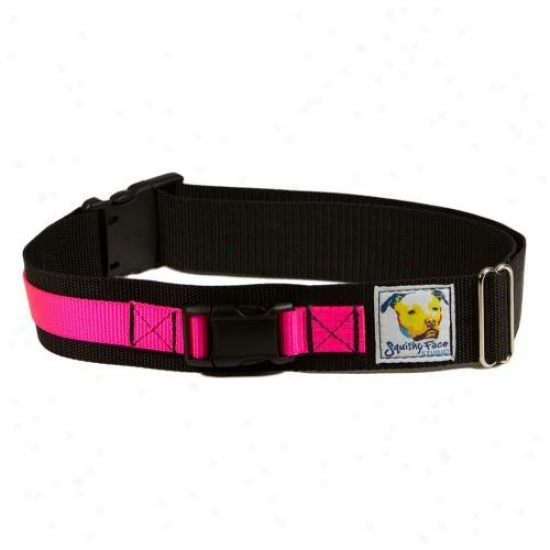 Squishy Face Studio Lb-sm-p Leash Belt Hands Free Dog Walking Harness Small-medium Neon Pink