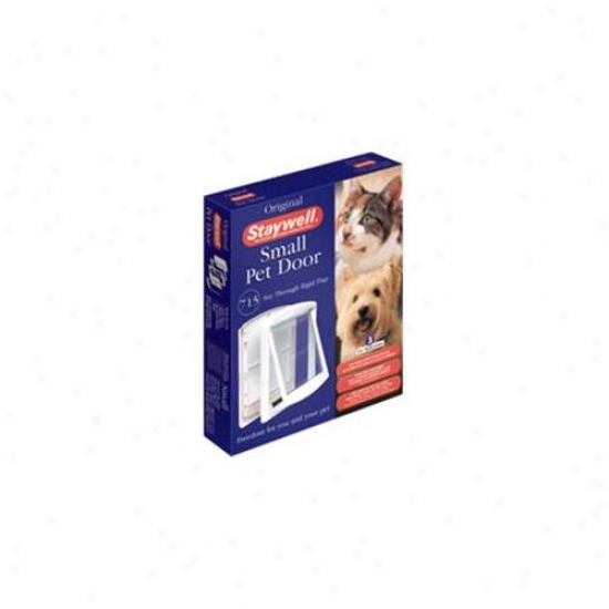 Staywell 715us Small White Clear Hard Door Flap