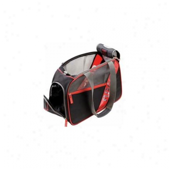 Teafco- Ac9c0100m City-pet AirlineA pproved Carrier  Black With Red Trim - Medium