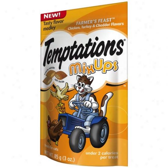 Temptations Mix Ups Farmer's Feast Treats For Cats, 3 Oz